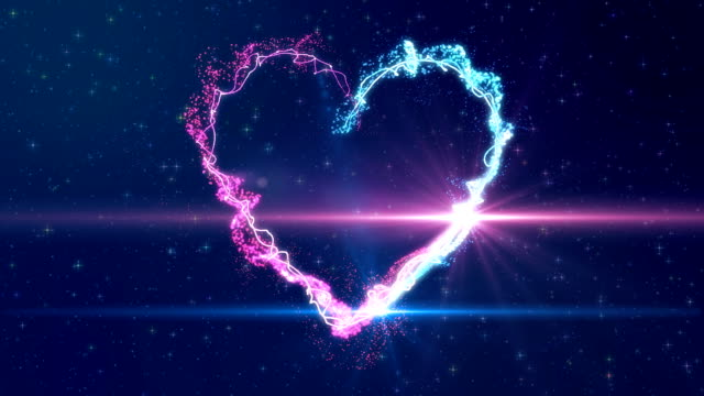 Heart shape made of particles video