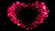 Heart Shape made of Pink Particles Beating. Beautiful looped 3d animation. HD 1080. video