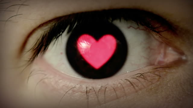 Heart shaped eye. video