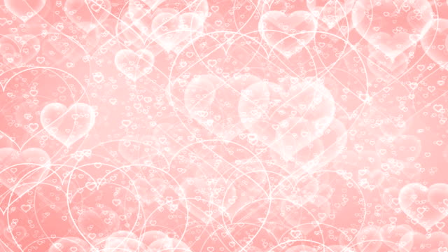 Heart shapes animation background loop video