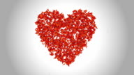 Heart Symbol made by Orange Butterflies - Alpha video