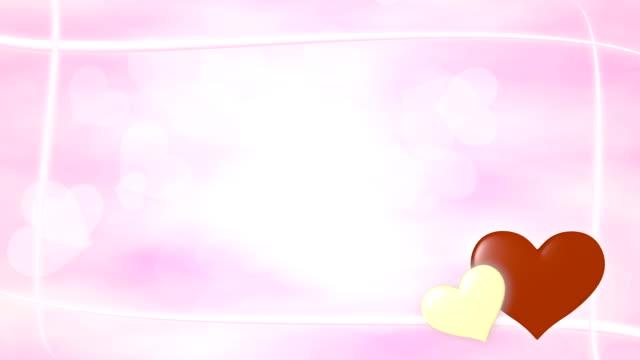 Heart valentine frame 2 pattern bright background video