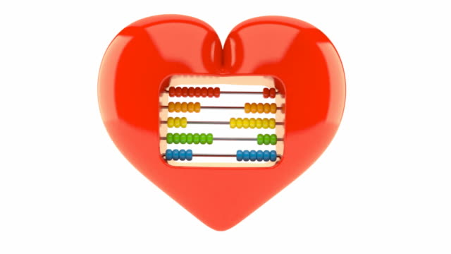Heart with abacus video