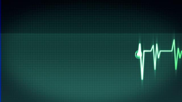 Heartbeat on ECG video