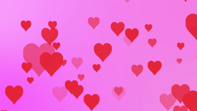 Hearts Background - looping video