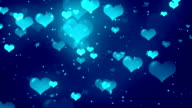 Hearts Blue Loopable Background video