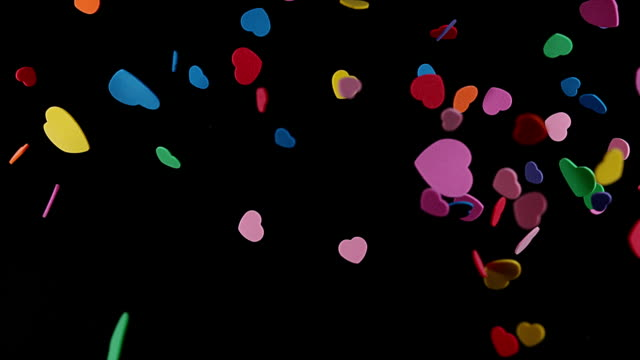 Hearts for Saint Valentine's Day, Slow Motion 4K video