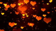 Hearts Gold Loopable Background video