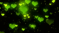 Hearts Green Loopable Background video