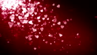 Hearts Red Falling video