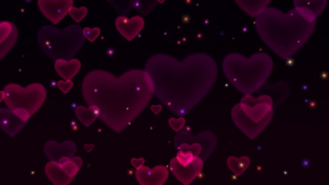 Hearts & Sparkles Looping HD Background video