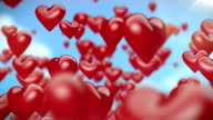 Heart-Shaped Ballons Flying video