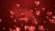 Heart-Shaped Particles Flying - Loop video