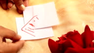 Heart-shaped puzzles. video