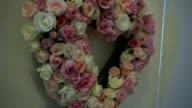 Heart-Shaped Wreath  On White Door video