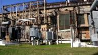 Heat electropower station. Transformers. Outdoor switchgear video