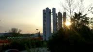 AERIAL: Heating factory video