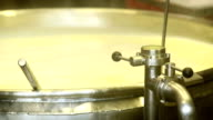 Heating Milk for Cheese Production Closeup video