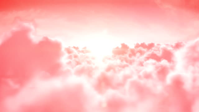Heaven. Looped 3d animation. HD. video