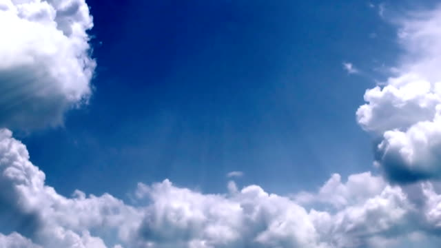 Heavenly clouds time lapse video