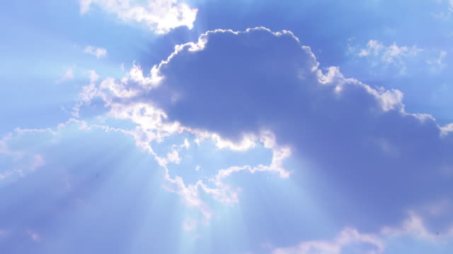 Heavenly clouds with sun rays ONE of 2 HD1080p24fps video