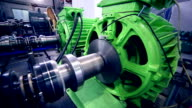 Heavy industry electric motor production video
