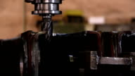 Heavy industry - Mechanical treatment, drilling machine video