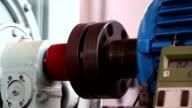 Heavy industry - testing motors in laboratory video