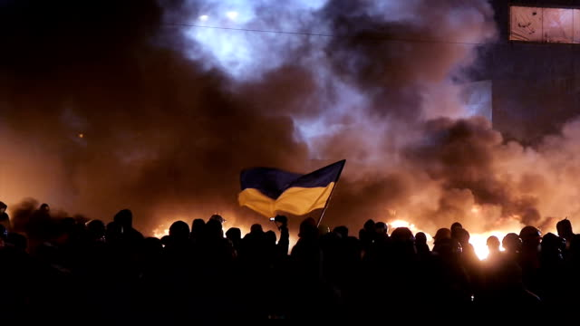 Heavy protests in Kiev, January 2014 video