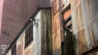 Heavy rain. Abandoned factory. video