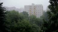 Heavy rain. High angle view from window 3 video