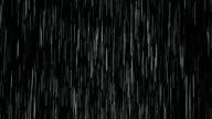 Heavy rain Isolated over black, loopable. video