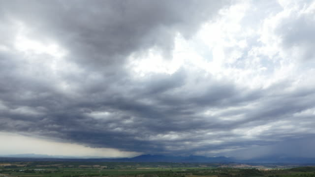 Heavy rainstorm over the Pyrenees, Spain video