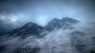 Heavy snow and mountain ridge video