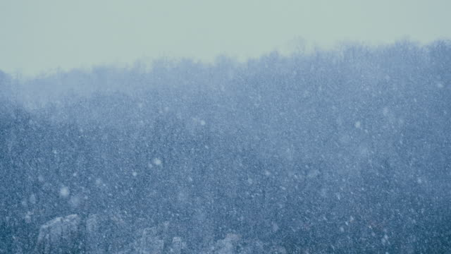 Heavy snow fall during winter christmas time in Slovenia video