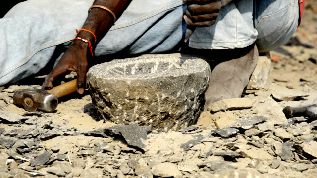 heavy stone grinding vessel video