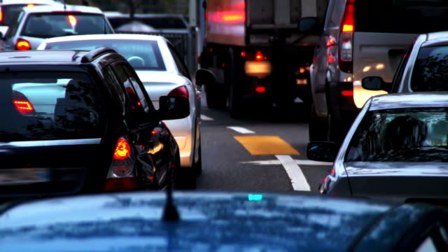 Heavy traffic in the city. video