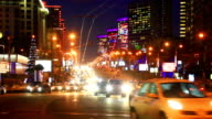 Heavy traffic of the New Arbat avenue in Moscow, Russia video