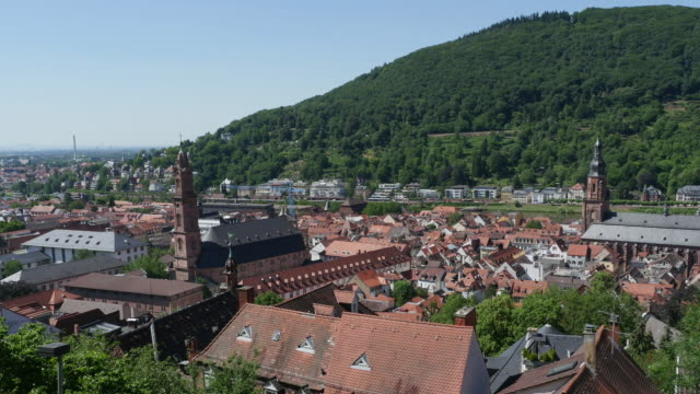 Heidelberg's old city as seen from the philosopher's way video