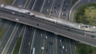 Helicopter Aerial Superhighway Shot Tilt Up video