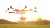 SLOW MOTION: RC helicopter flying in strong wind video
