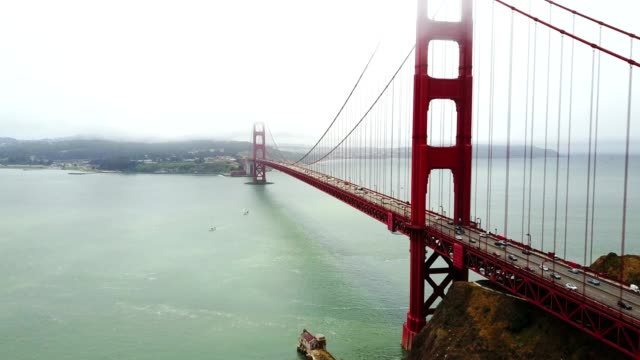 4K helicopter footage of the golden gate bridge video