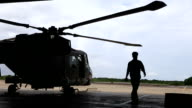 Helicopter hangar video
