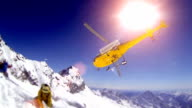 Helicopter / Heliboarding in French Alpes video