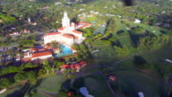 Helicopter ride near historic Biltmore Hotel Coral Gables Florida video