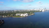 Helicopter ride over Buiscayne Bay, Viascaya and Coconut Grove video