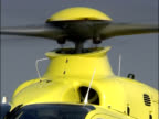 Helicopter rotor blades in close up video