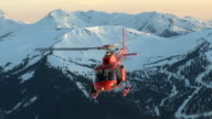 Helicopter Takeoff at Sunset video