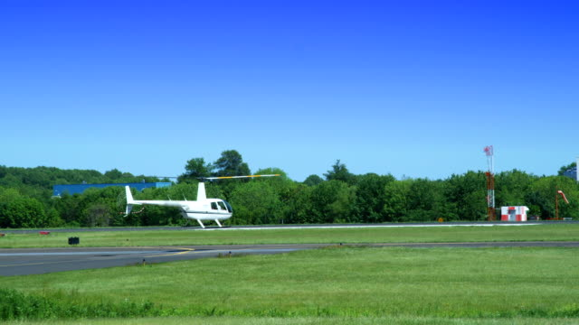 HD: Helicopter takeoff on runway video