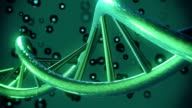 DNA helix in dark green color video